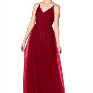 Burgundy Dariela Azazie Dress